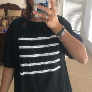 Black Graphic T Shirt